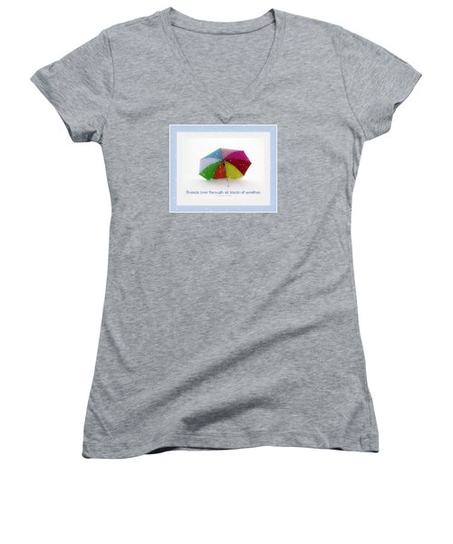 Well-weathered Friends Women's V-Neck T-Shirt