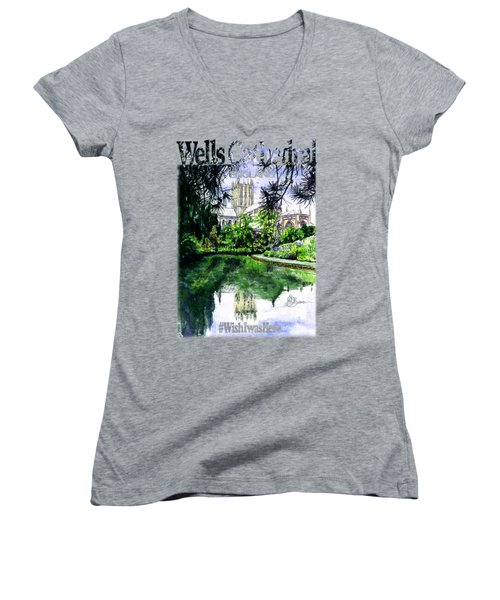 Wells Cathedral Shirt Women's V-Neck (Athletic Fit)