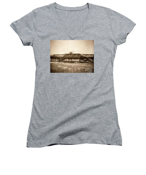 West 207th Street, 1906 Women's V-Neck T-Shirt (Junior Cut) by Cole Thompson