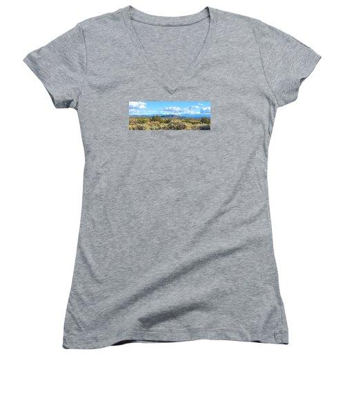 West Of Taos Women's V-Neck T-Shirt