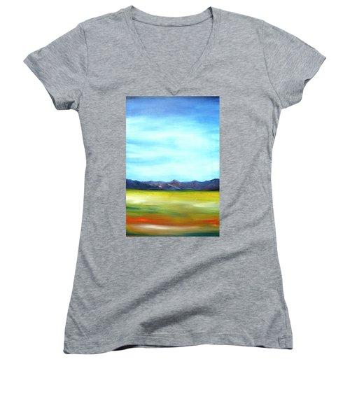 West Texas Landscape Women's V-Neck T-Shirt