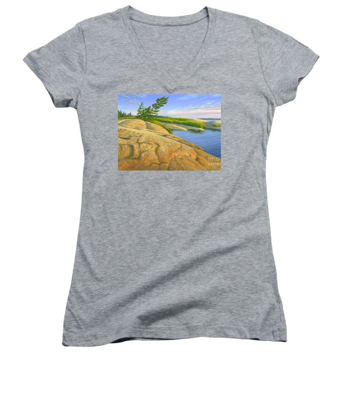 Wind Swept Women's V-Neck T-Shirt