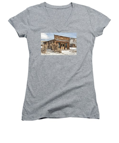 Women's V-Neck featuring the photograph Western Saloon by Scott Read