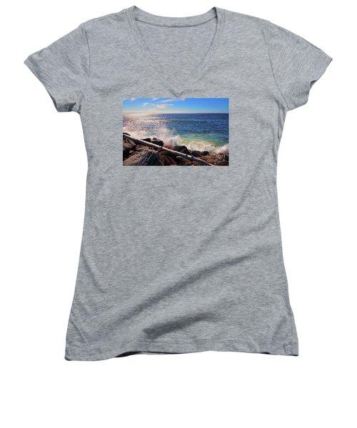 Westport Waves Women's V-Neck T-Shirt
