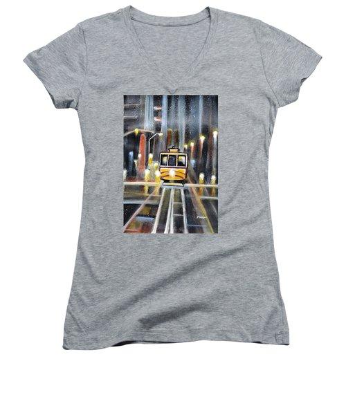 Wet Tram California Women's V-Neck T-Shirt (Junior Cut)