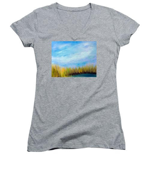 Wetlands Morning Women's V-Neck T-Shirt