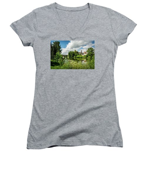 Women's V-Neck T-Shirt (Junior Cut) featuring the photograph Wetzlar Germany by David Morefield