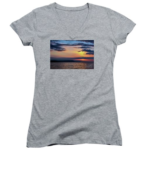 Weymouth Esplanade Sunrise Women's V-Neck (Athletic Fit)
