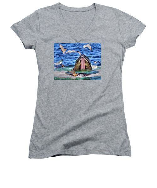 Whale 279 Women's V-Neck T-Shirt