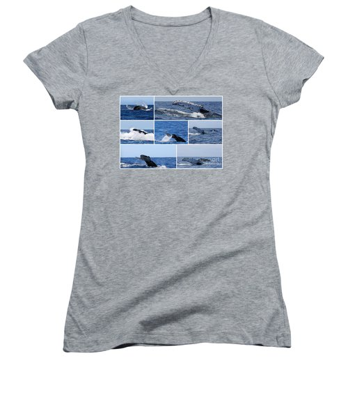 Whale Action Women's V-Neck (Athletic Fit)