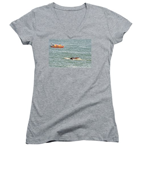 Whale Tail Women's V-Neck