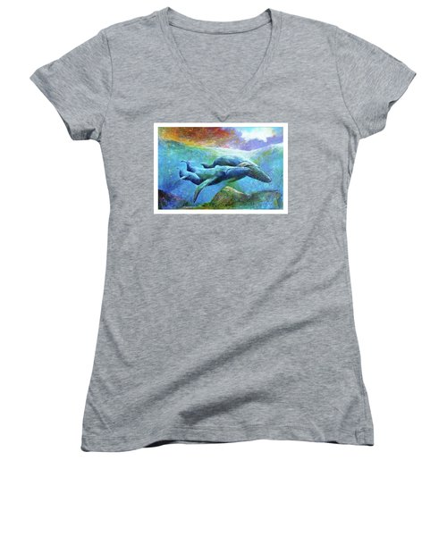 Whale Watch Women's V-Neck (Athletic Fit)