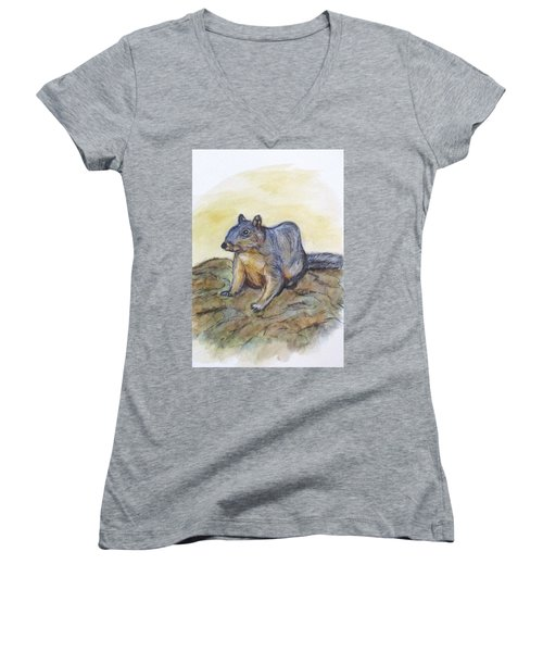 What Are You Looking At? Women's V-Neck T-Shirt (Junior Cut) by Clyde J Kell