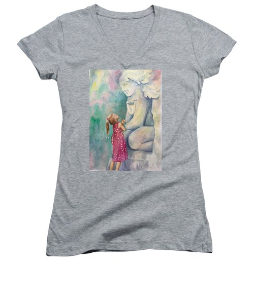 What Are You Thinking? Women's V-Neck (Athletic Fit)