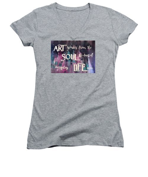What Art Does Women's V-Neck (Athletic Fit)