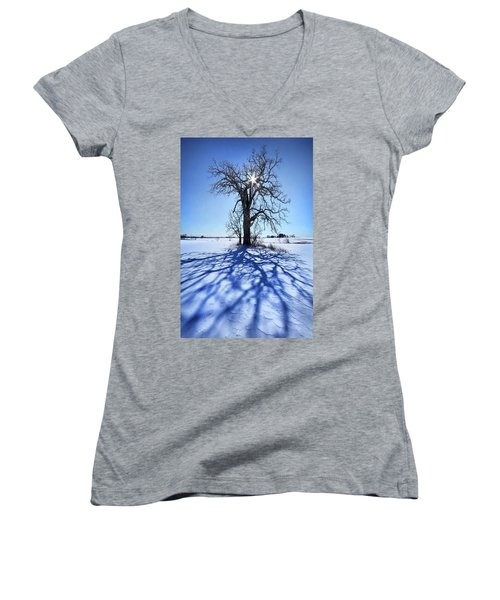 Women's V-Neck T-Shirt (Junior Cut) featuring the photograph What I Am, What I Was, What I Will Be by Phil Koch