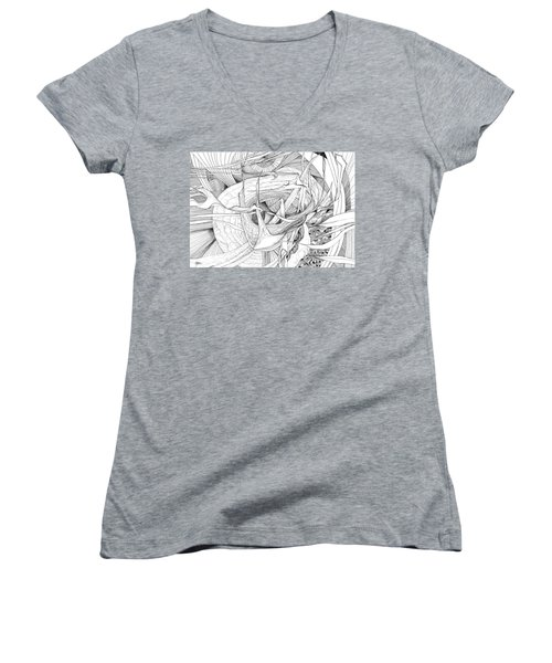 What Lies Within Women's V-Neck T-Shirt (Junior Cut) by Charles Cater