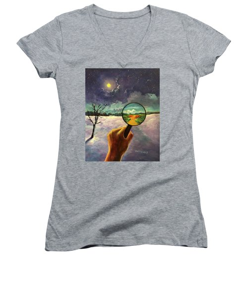What We Choose To See Women's V-Neck
