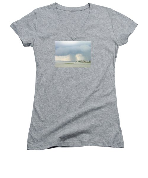 What's Coming? Women's V-Neck (Athletic Fit)