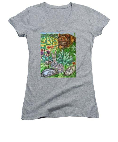What's That...? Women's V-Neck T-Shirt (Junior Cut) by Kim Jones