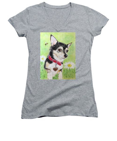 What's The Buzz? Women's V-Neck (Athletic Fit)