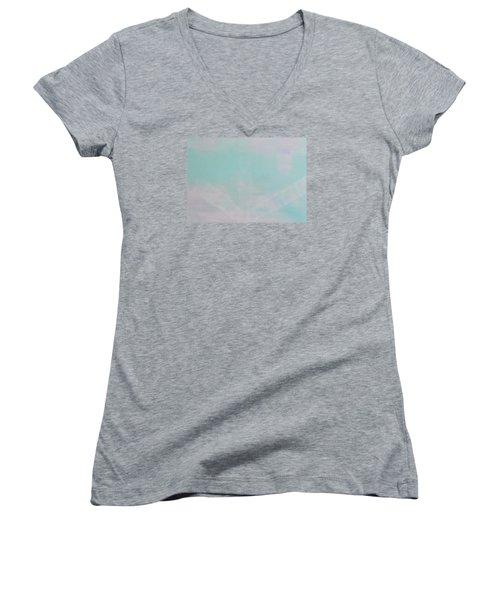 What's The Next Step? Women's V-Neck T-Shirt (Junior Cut) by Min Zou