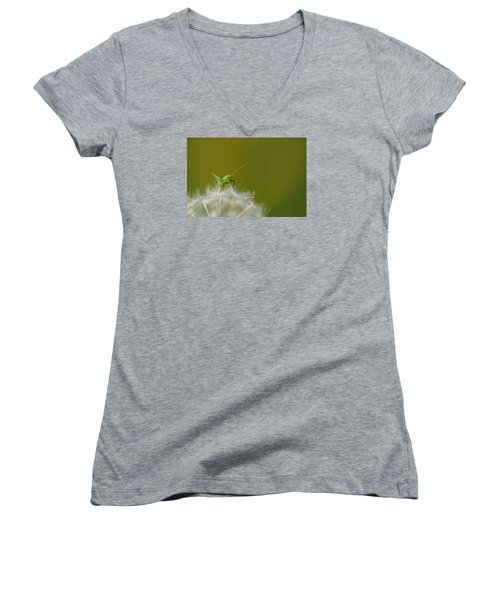 Women's V-Neck T-Shirt (Junior Cut) featuring the photograph What's The Time.... by Richard Patmore
