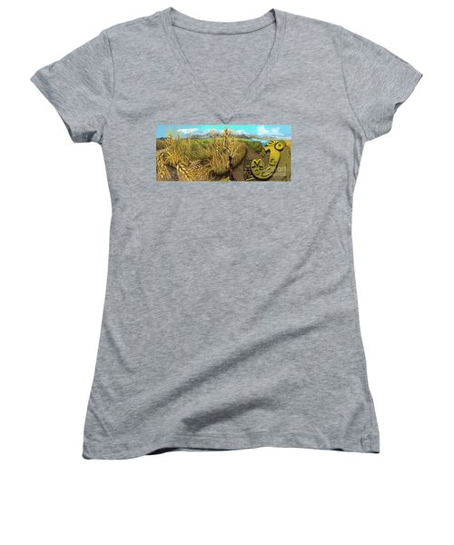 Wheat Field Day Dreaming Women's V-Neck (Athletic Fit)