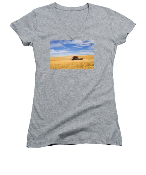 Wheat Harvest Women's V-Neck (Athletic Fit)