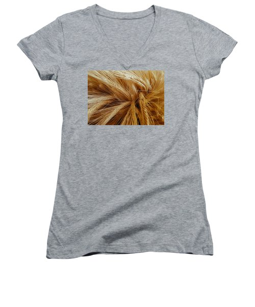 Wheat In The Sunset Women's V-Neck