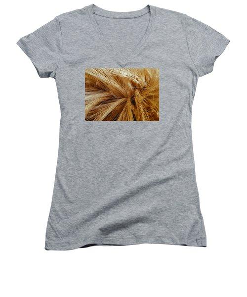 Wheat In The Sunset Women's V-Neck