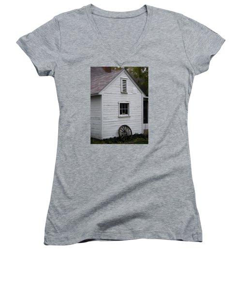 Wheel Women's V-Neck T-Shirt (Junior Cut) by Frank J Casella