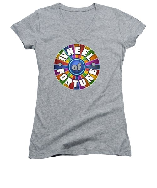 Wheel Of Fortune T-shirt Women's V-Neck (Athletic Fit)
