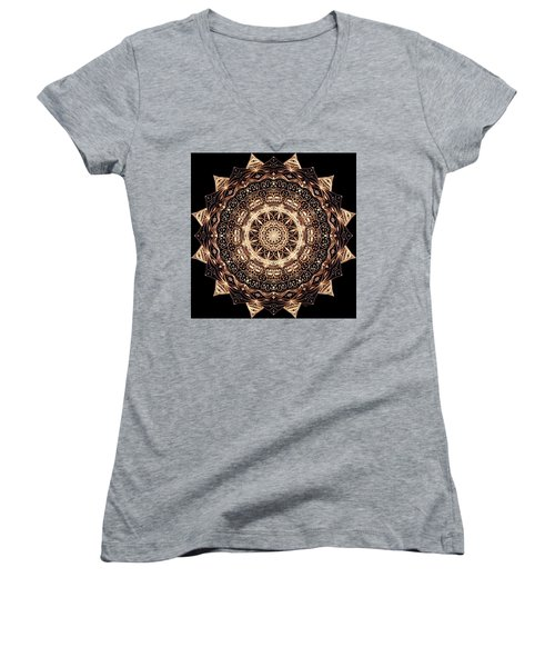 Wheel Of Life Mandala Women's V-Neck (Athletic Fit)
