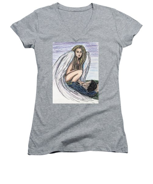 When Angels Cry Women's V-Neck T-Shirt