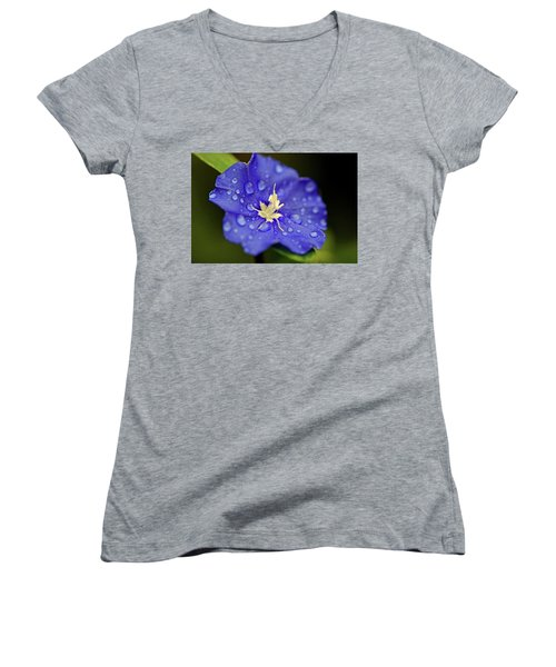 Women's V-Neck T-Shirt (Junior Cut) featuring the photograph When Old Becomes New by Melanie Moraga