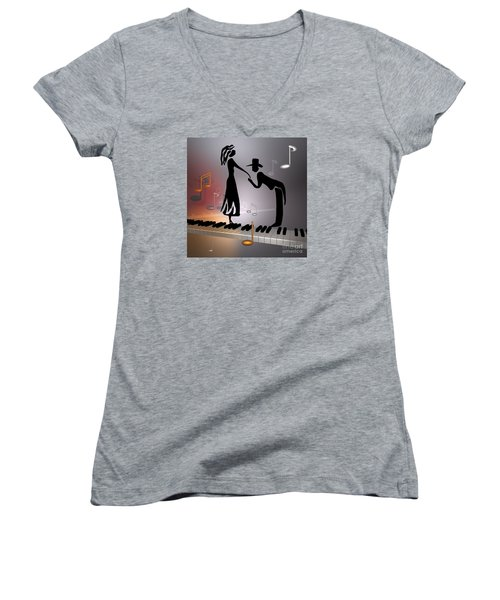 When The Music ... Women's V-Neck