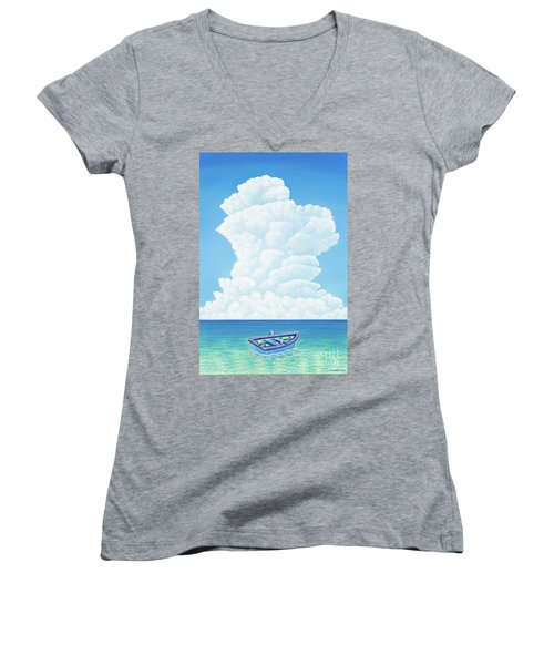 When Three Is Not A Crowd Women's V-Neck