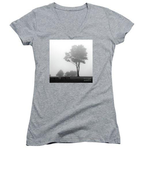 Women's V-Neck T-Shirt (Junior Cut) featuring the photograph Where Do I Go When It's Gone by Dana DiPasquale