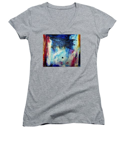 Where Does The Time Go Women's V-Neck T-Shirt (Junior Cut) by Tracy Bonin