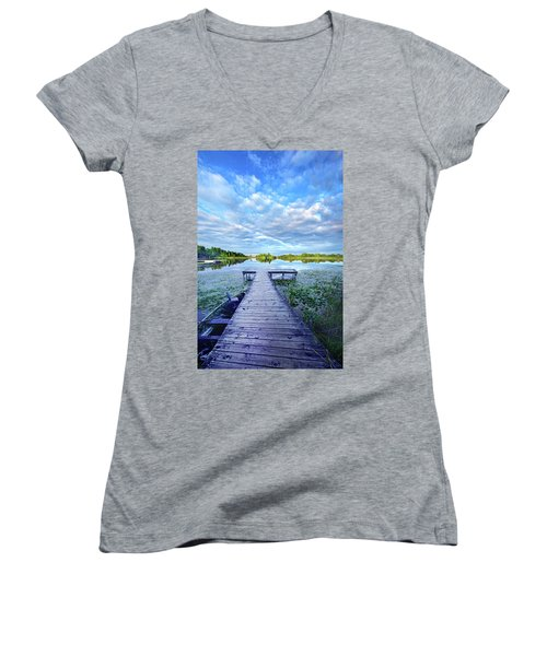 Where Dreams Are Dreamt Women's V-Neck T-Shirt (Junior Cut) by Phil Koch