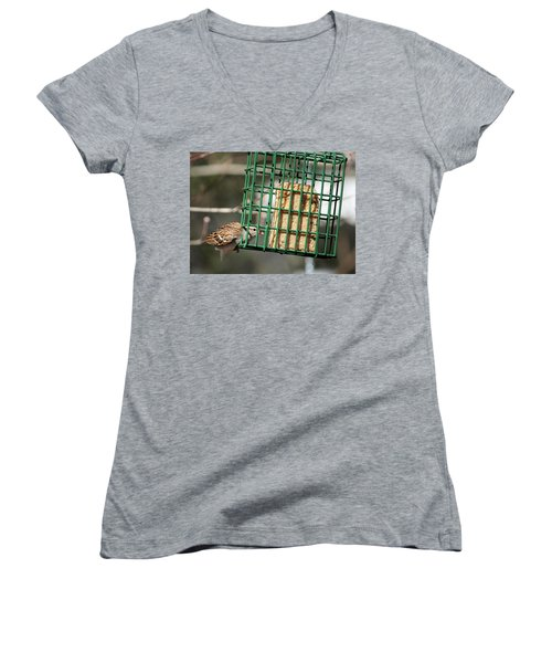 Women's V-Neck T-Shirt (Junior Cut) featuring the photograph Where There's A Will by Cathy Harper