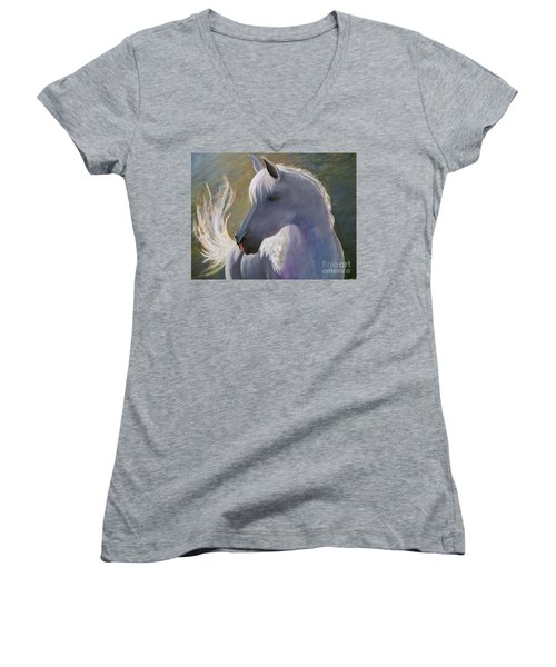 Where's My Cowgirl Women's V-Neck (Athletic Fit)