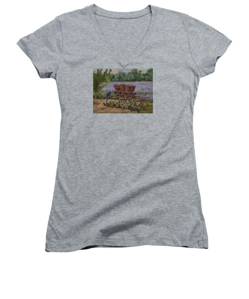 Where's The Seed? Women's V-Neck T-Shirt (Junior Cut) by Jane Thorpe
