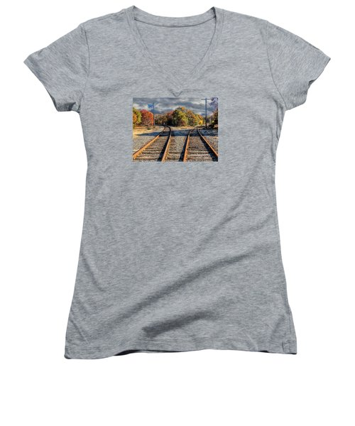 Which Way Women's V-Neck T-Shirt (Junior Cut) by Constantine Gregory