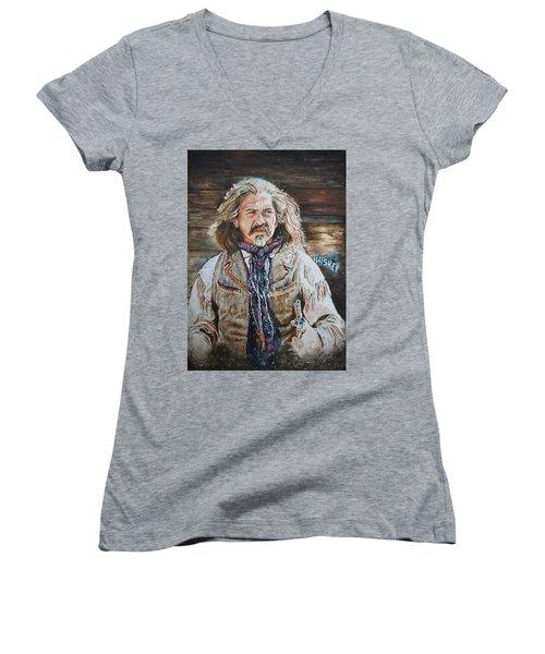 Whiskey Women's V-Neck T-Shirt (Junior Cut) by Traci Goebel