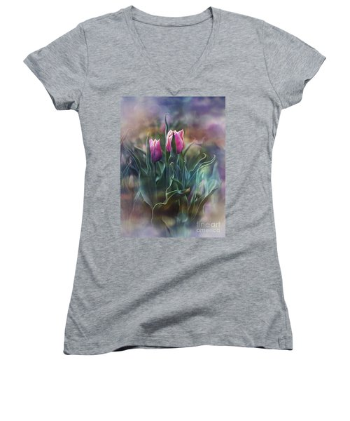 Whisper Of Spring Women's V-Neck T-Shirt