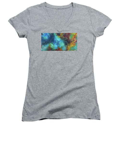 Whispering Winds Women's V-Neck T-Shirt (Junior Cut) by Karen Kennedy Chatham