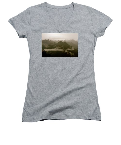 Whispers In The Andes Mountains Women's V-Neck (Athletic Fit)