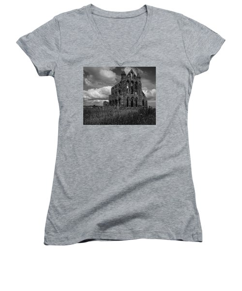 Whitby Abbey, North York Moors Women's V-Neck